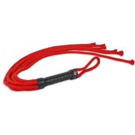 Красная верёвочная плеть-шестихвостка - 80 см.