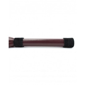 Бордовая плеть Ladys Arsenal с гладкой ручкой - 45 см.