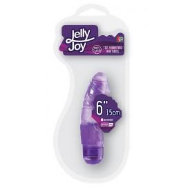 Фиолетовый вибромассажёр JELLY JOY 6INCH 10 RHYTHMS - 15 см.