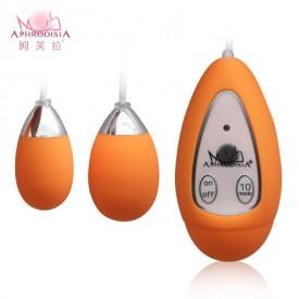 Оранжевые виброяйца Xtreme 10F Dual Eggs